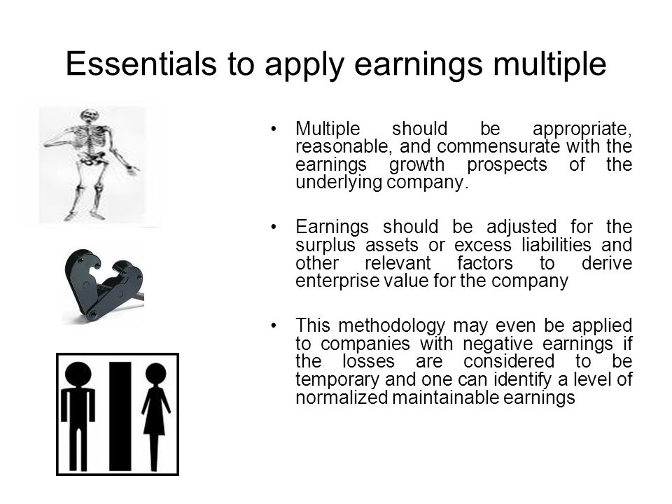Essentials to apply earnings multiple