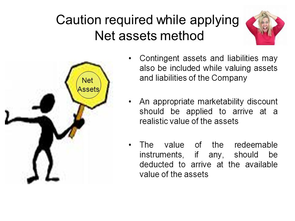 Caution required while applying Net assets method