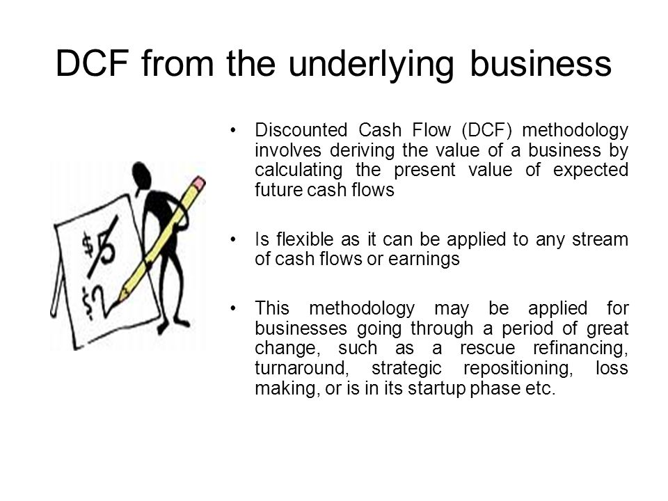 DCF from the underlying business