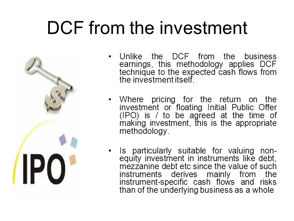 DCF from the investment