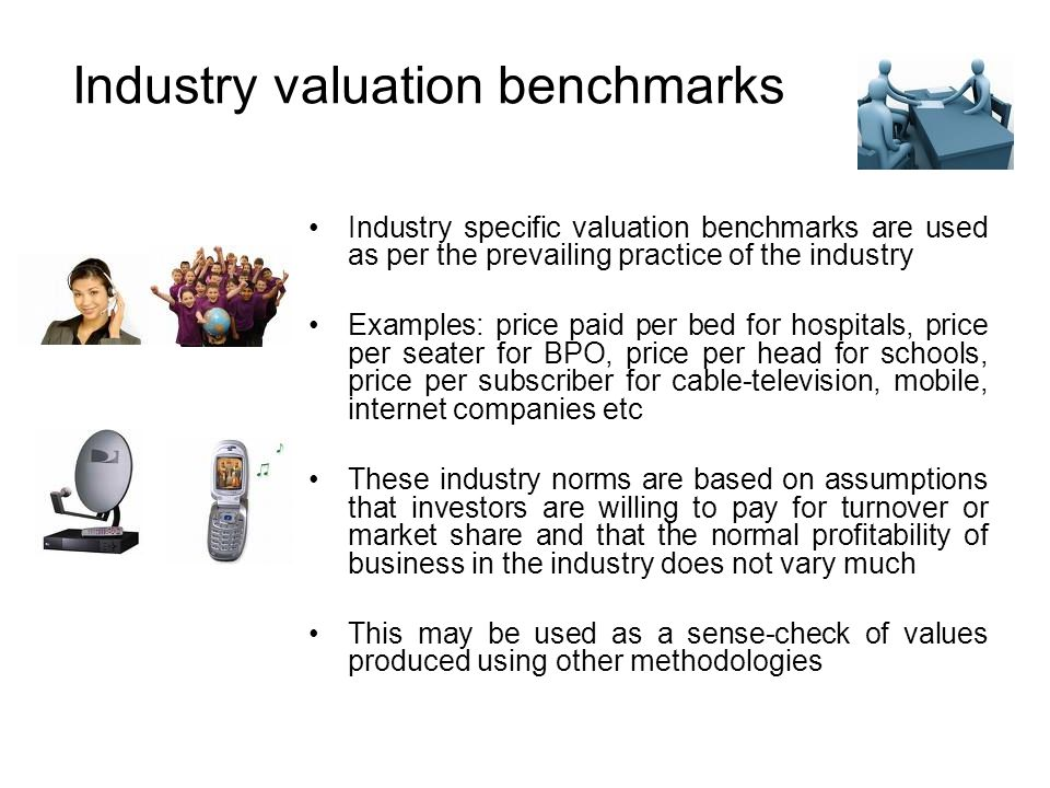 Industry valuation benchmarks