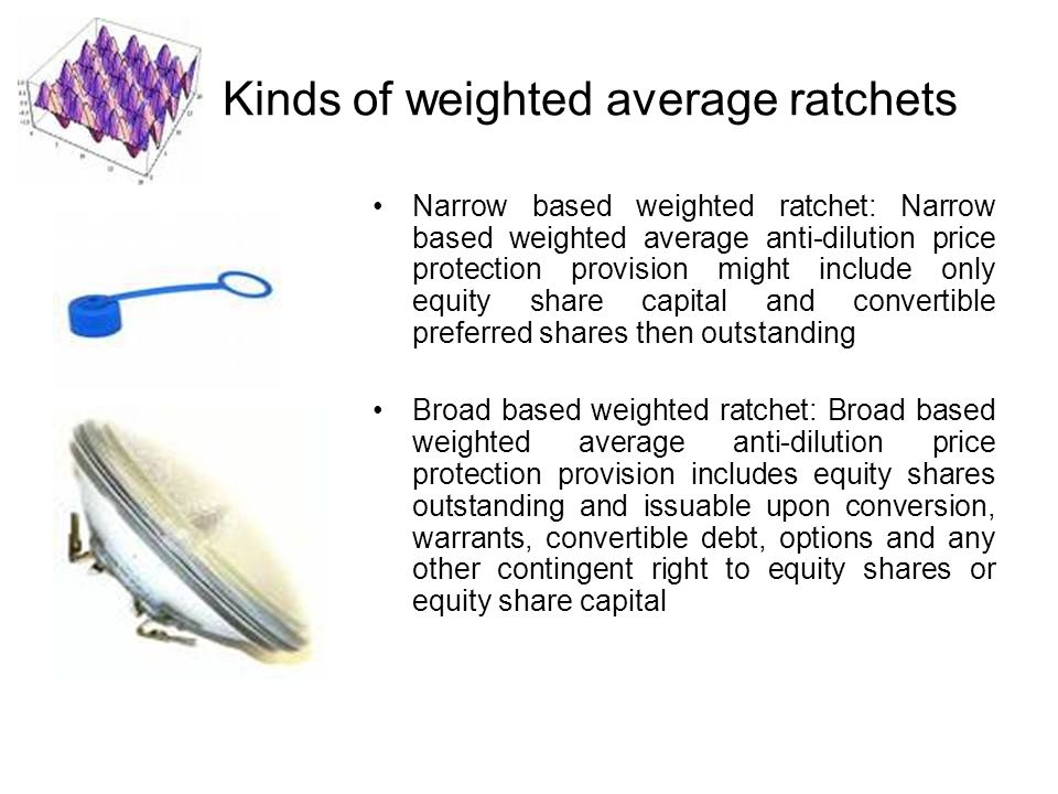 Kinds of weighted average ratchets