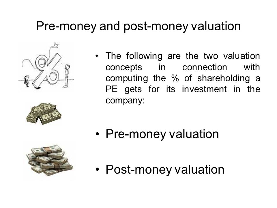 Pre-money and post-money valuation