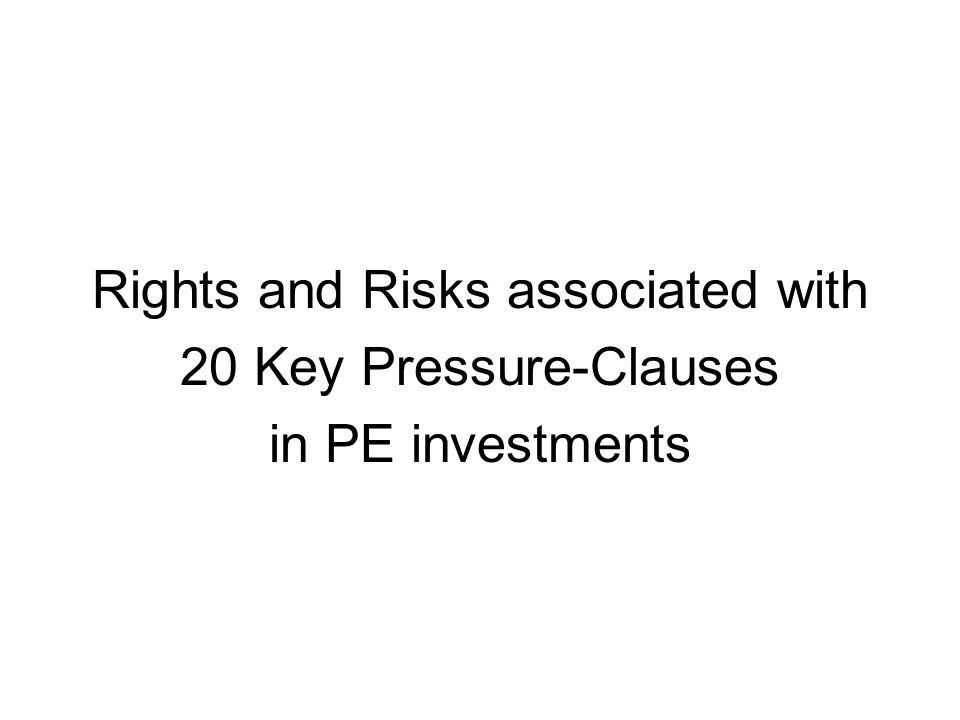 Rights and Risks associated with