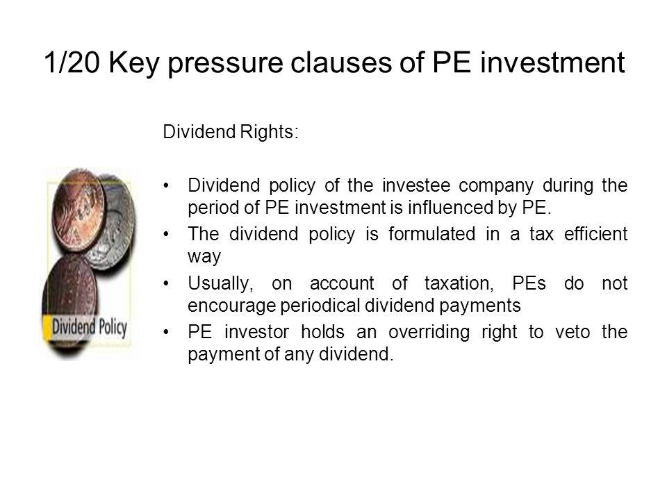 1/20 Key pressure clauses of PE investment