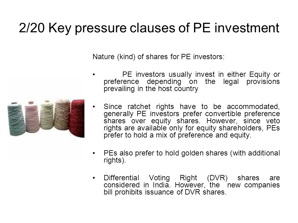 2/20 Key pressure clauses of PE investment