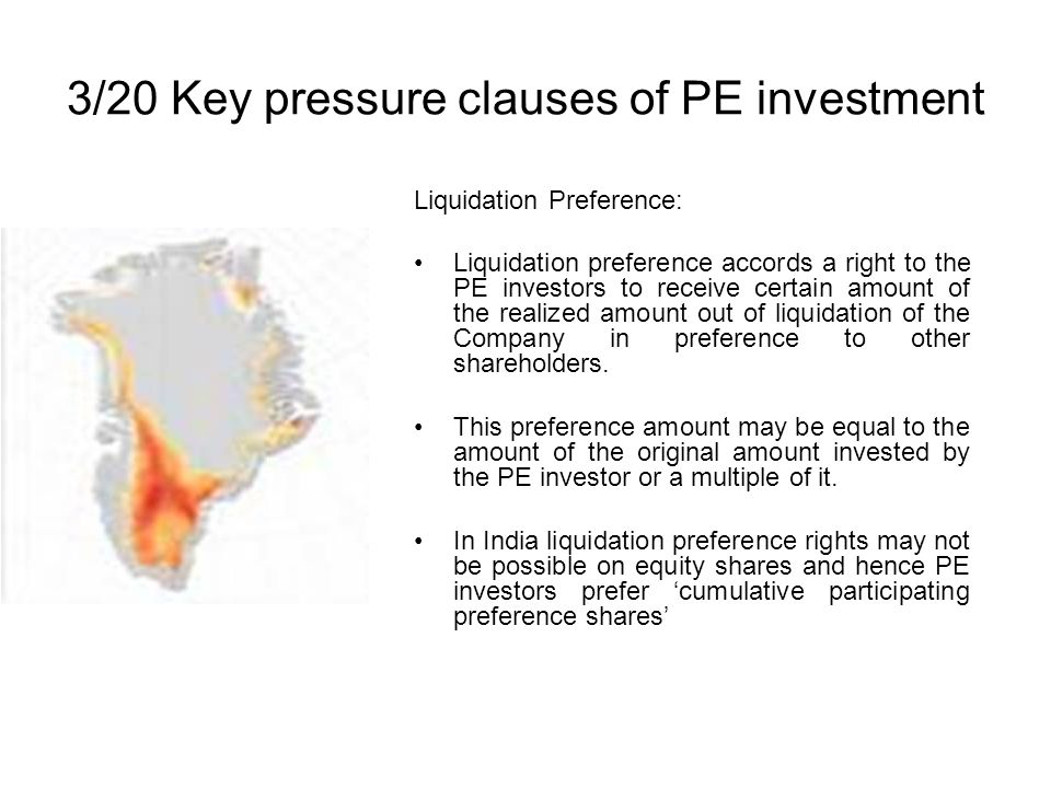 3/20 Key pressure clauses of PE investment