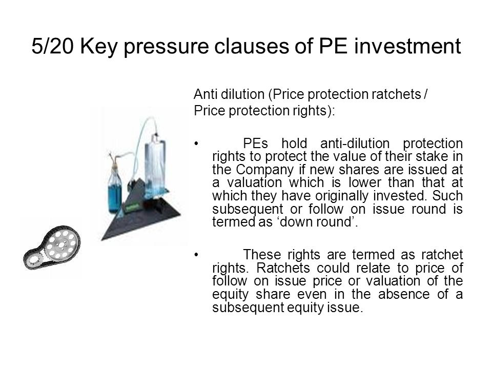 5/20 Key pressure clauses of PE investment