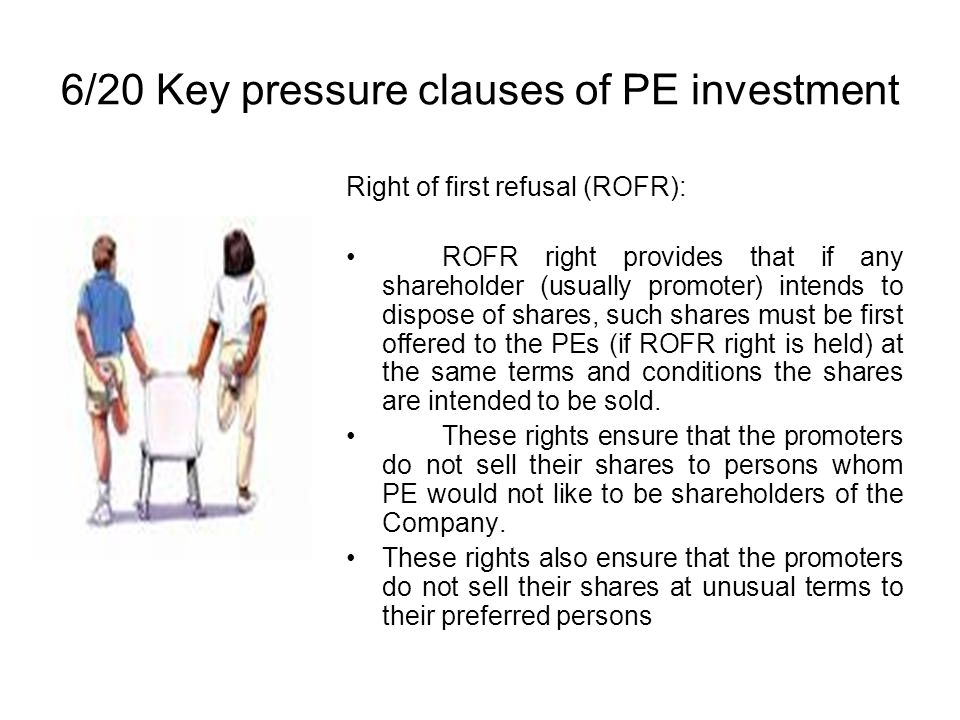 6/20 Key pressure clauses of PE investment