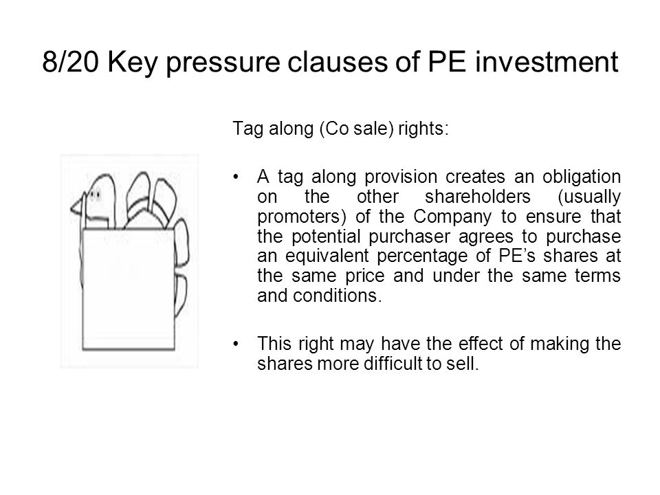 8/20 Key pressure clauses of PE investment
