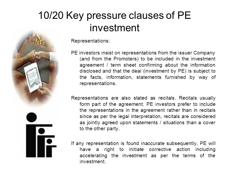 10/20 Key pressure clauses of PE investment