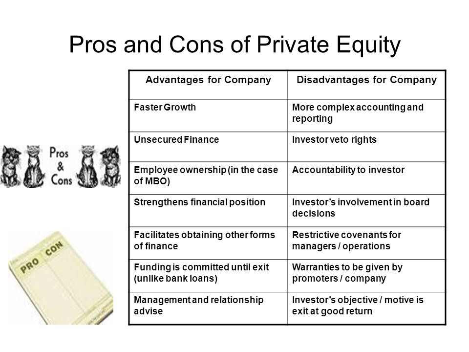 Pros and Cons of Private Equity
