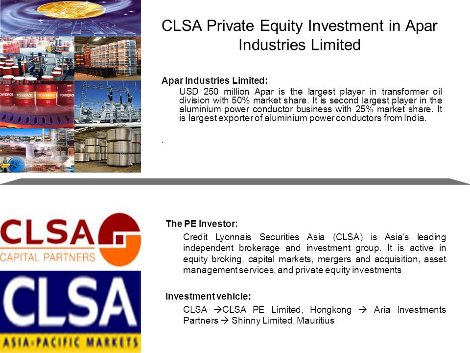 CLSA Private Equity Investment in Apar Industries Limited