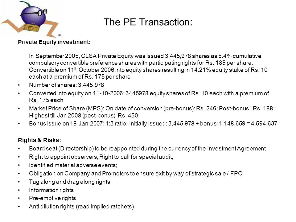 The PE Transaction: