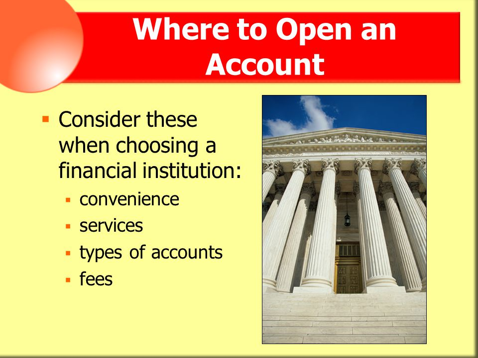 Where to Open an Account