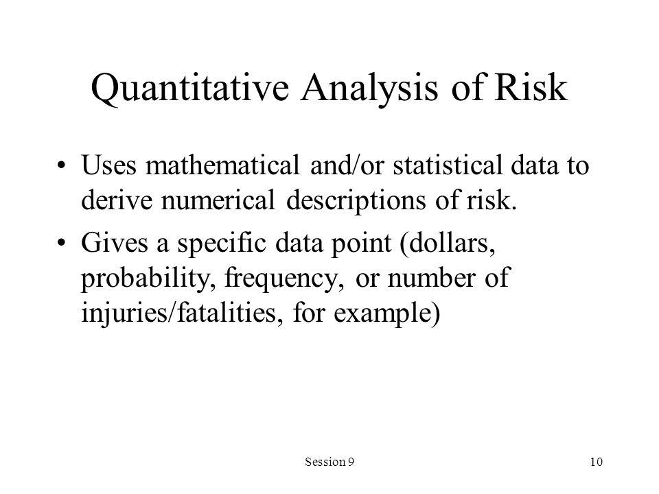 Quantitative Analysis of Risk