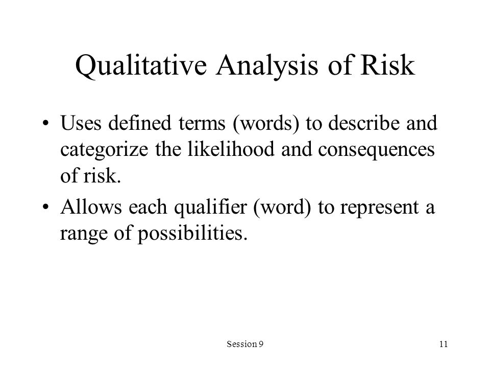 Qualitative Analysis of Risk