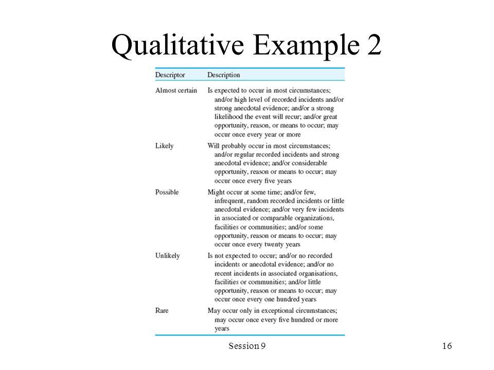Qualitative Example 2 Session 9