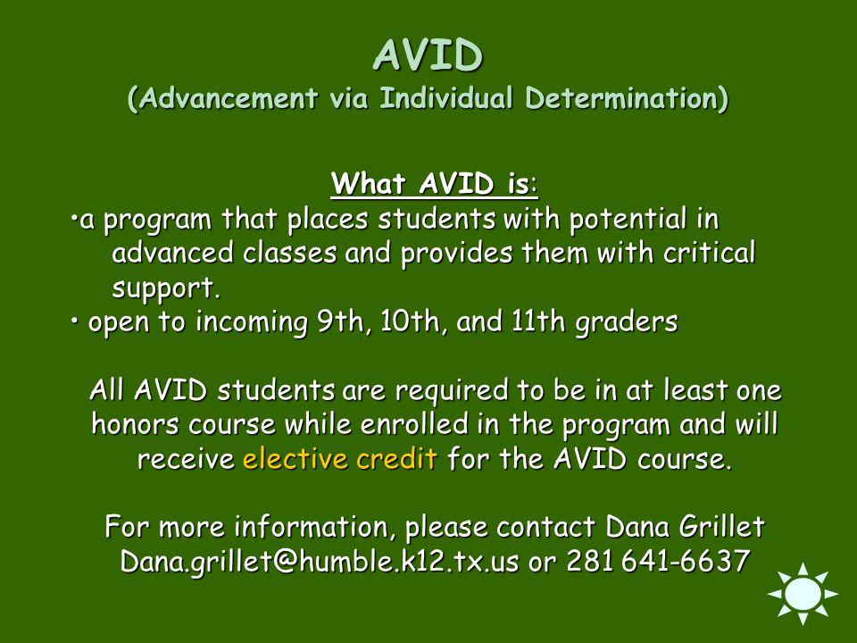 AVID (Advancement via Individual Determination)
