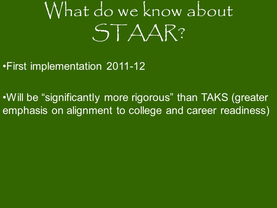 What do we know about STAAR