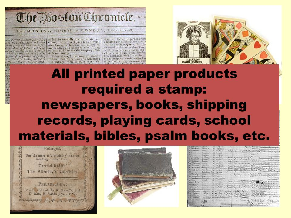 All printed paper products
