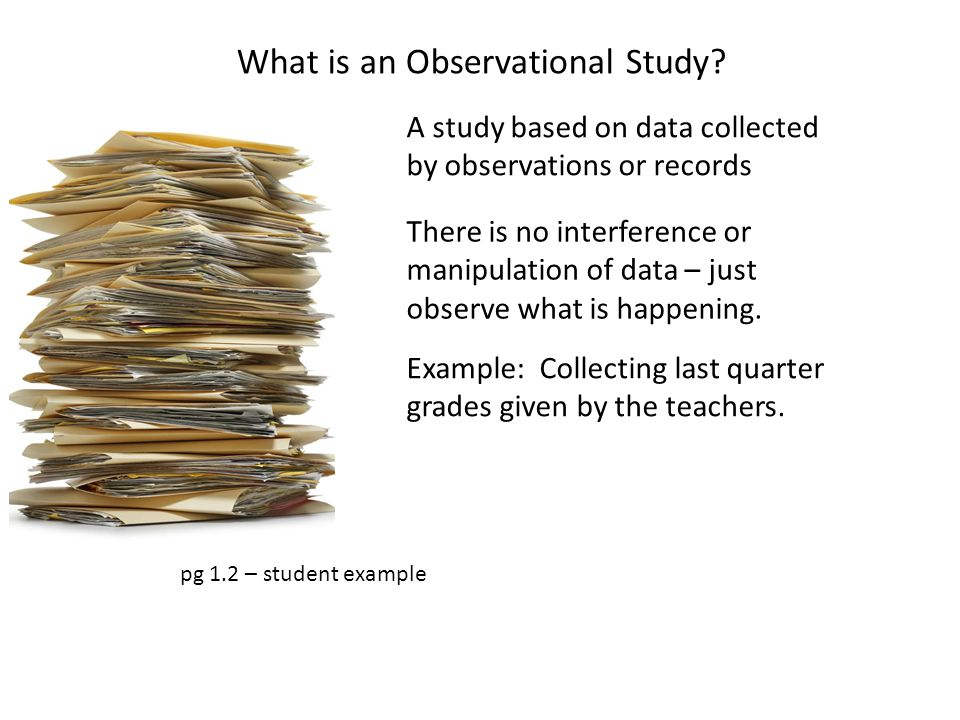 What is an Observational Study
