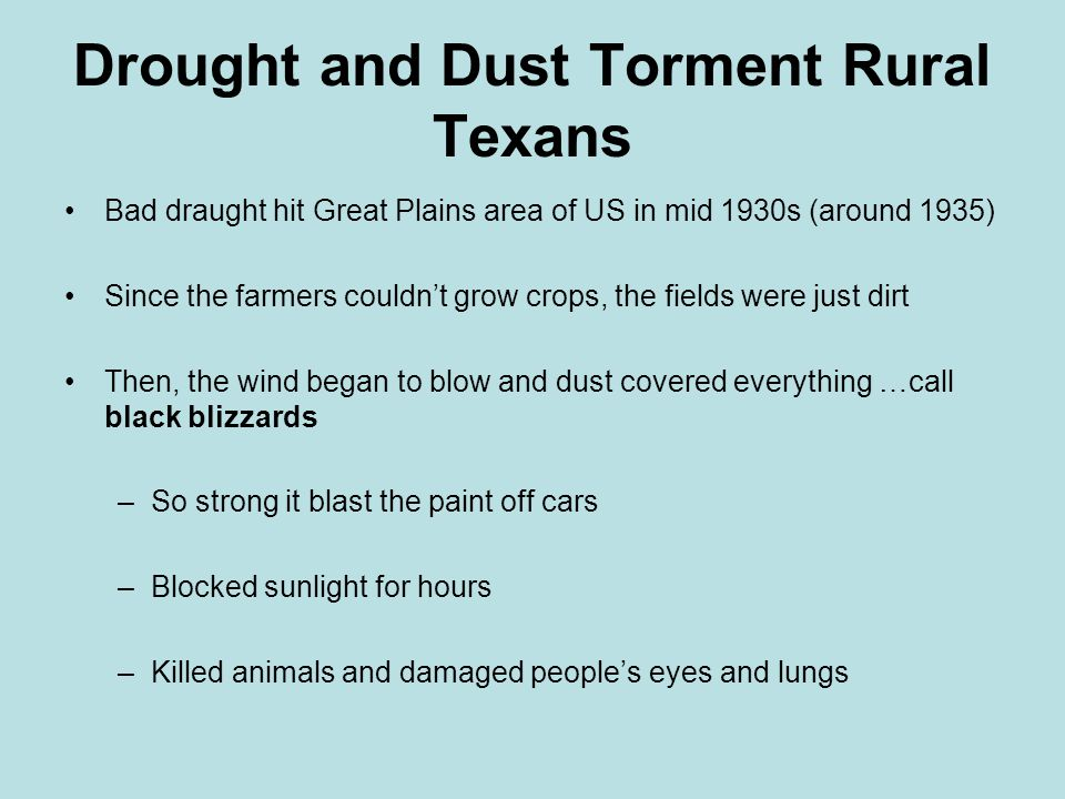 Drought and Dust Torment Rural Texans