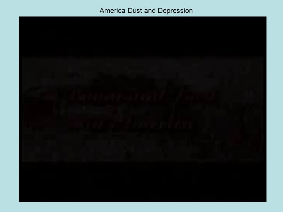 America Dust and Depression