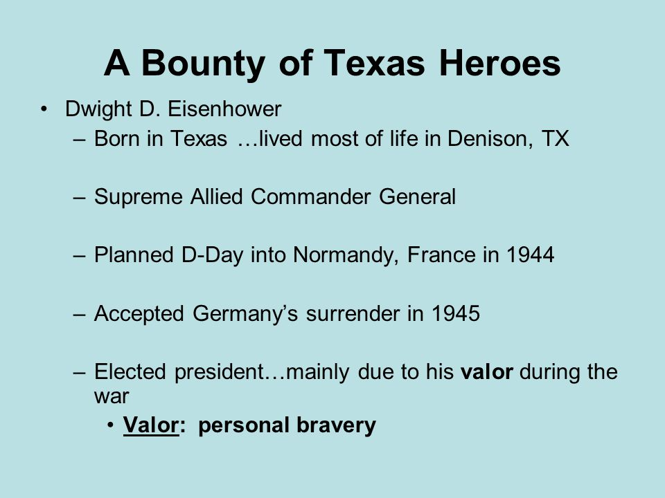 A Bounty of Texas Heroes