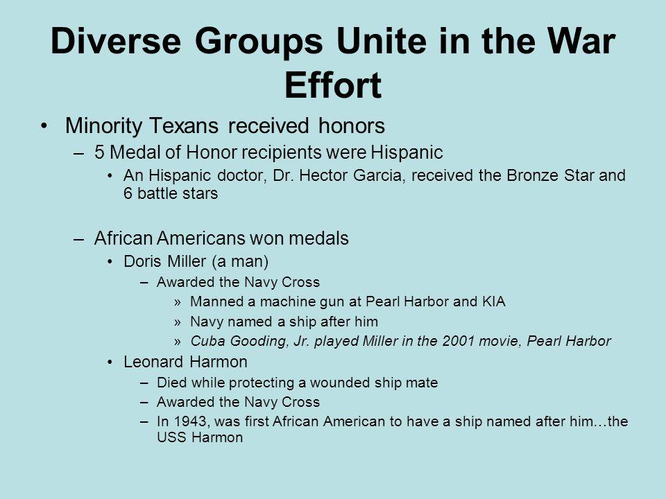 Diverse Groups Unite in the War Effort