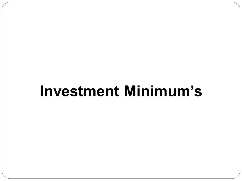 Investment Minimum's