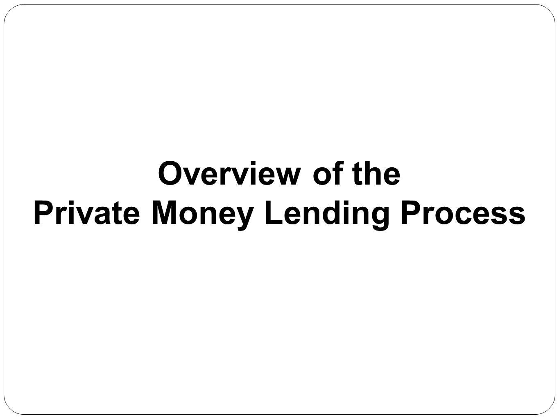 Private Money Lending Process