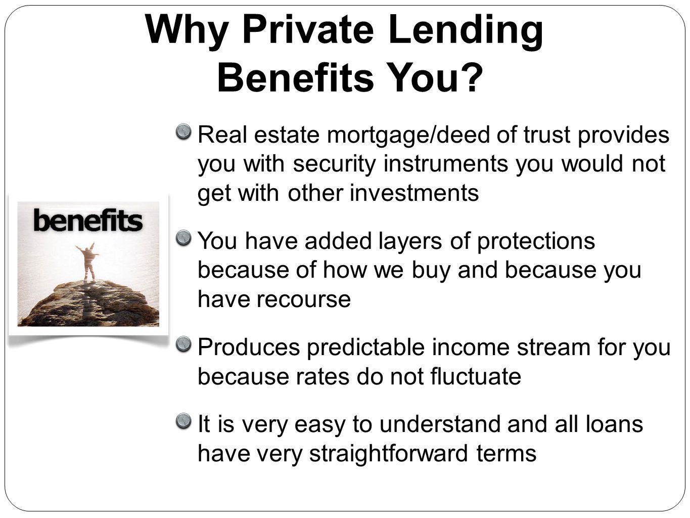Why Private Lending Benefits You