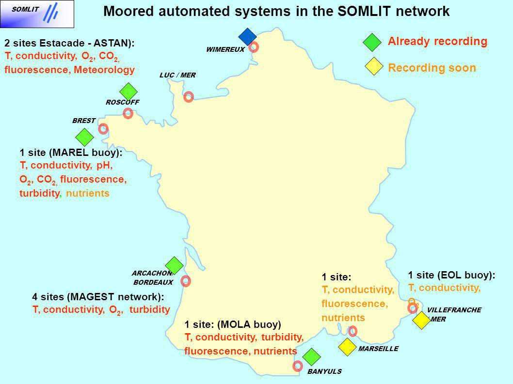 Moored automated systems in the SOMLIT network