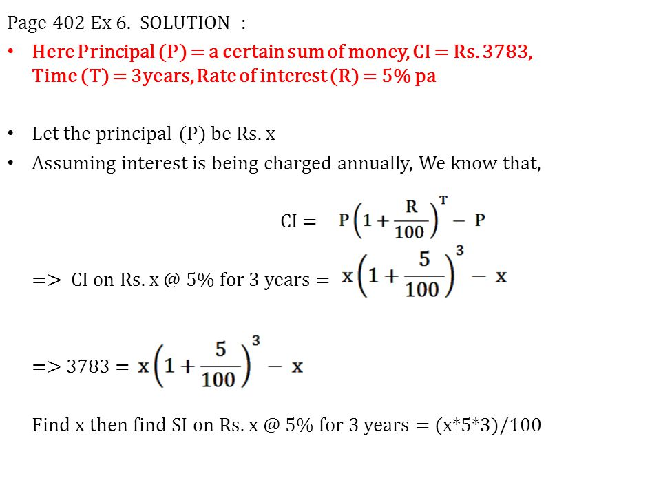 Page 402 Ex 6. SOLUTION :