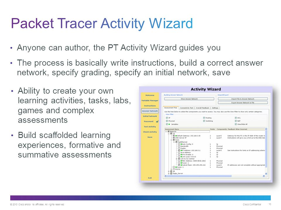 Packet Tracer Activity Wizard