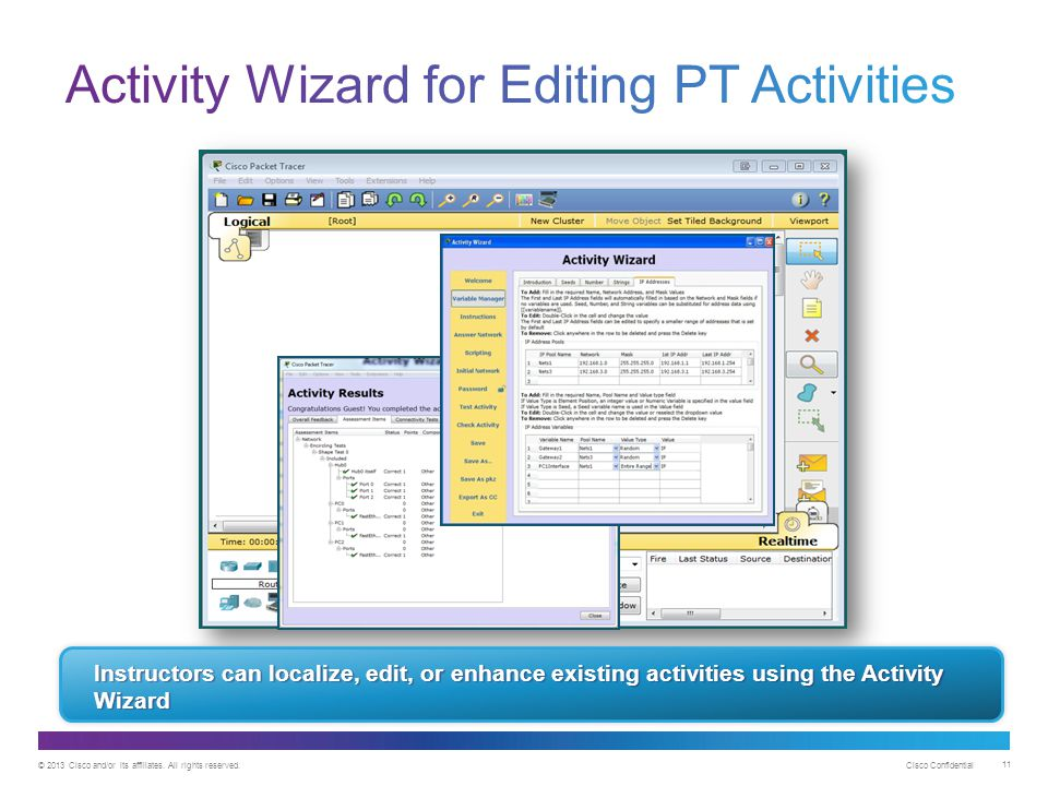 Activity Wizard for Editing PT Activities