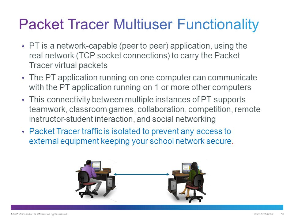 Packet Tracer Multiuser Functionality