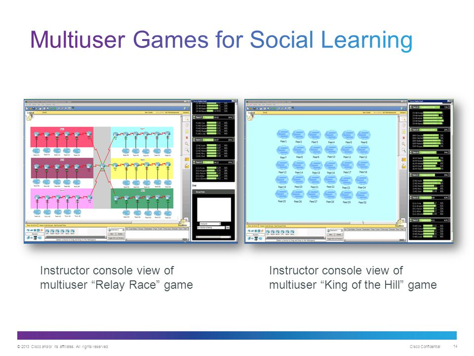 Multiuser Games for Social Learning