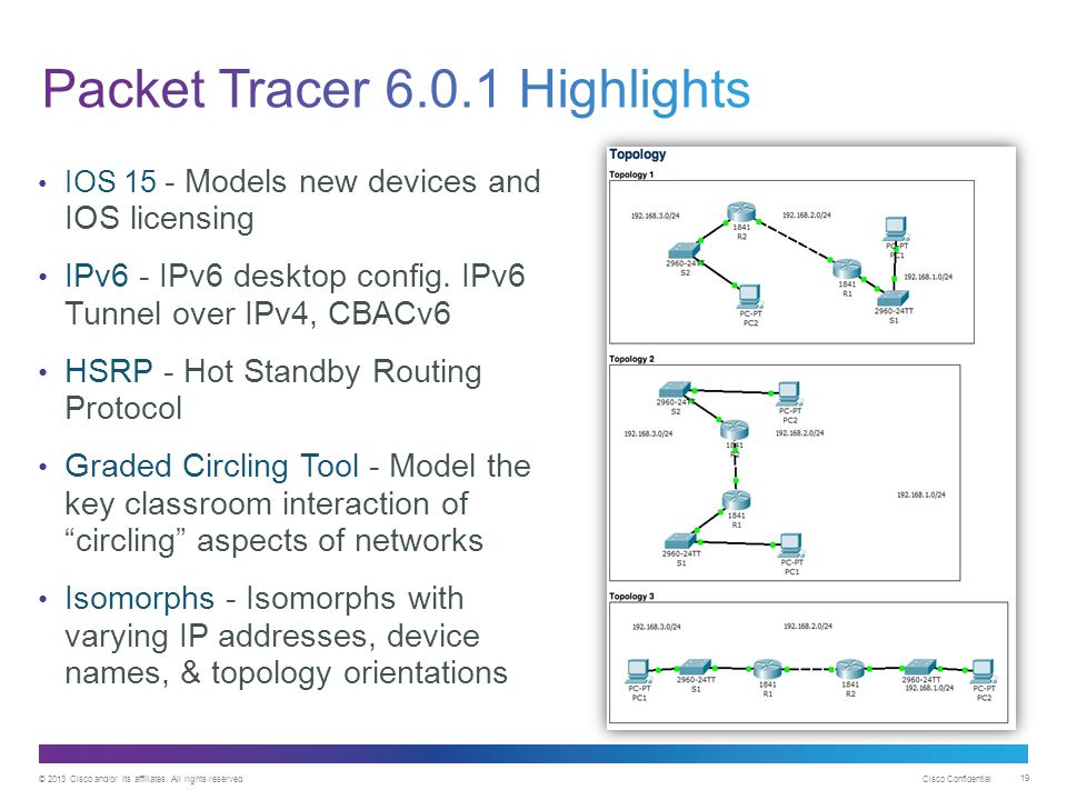Packet Tracer 6.0.1 Highlights