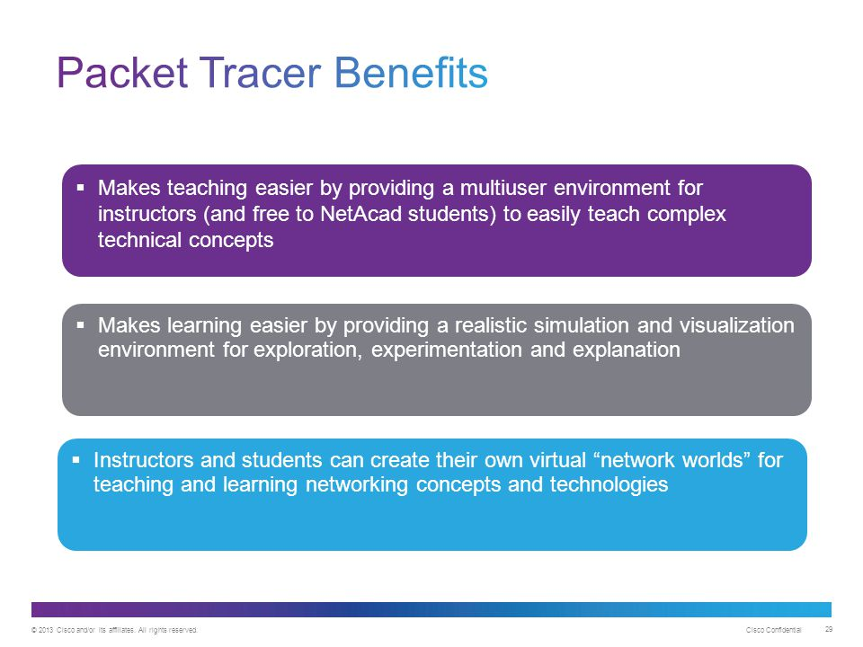 Packet Tracer Benefits