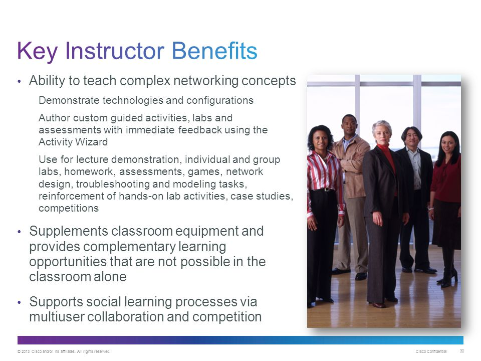 Key Instructor Benefits