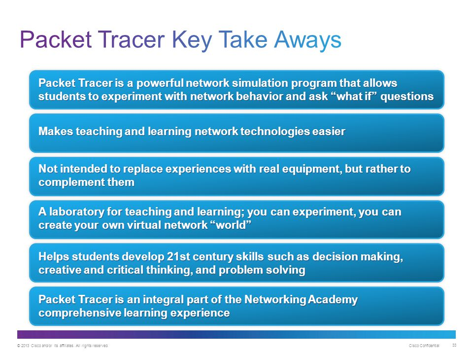 Packet Tracer Key Take Aways