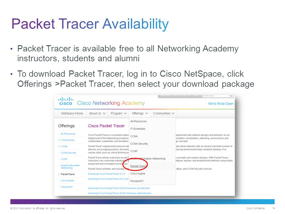 Packet Tracer Availability
