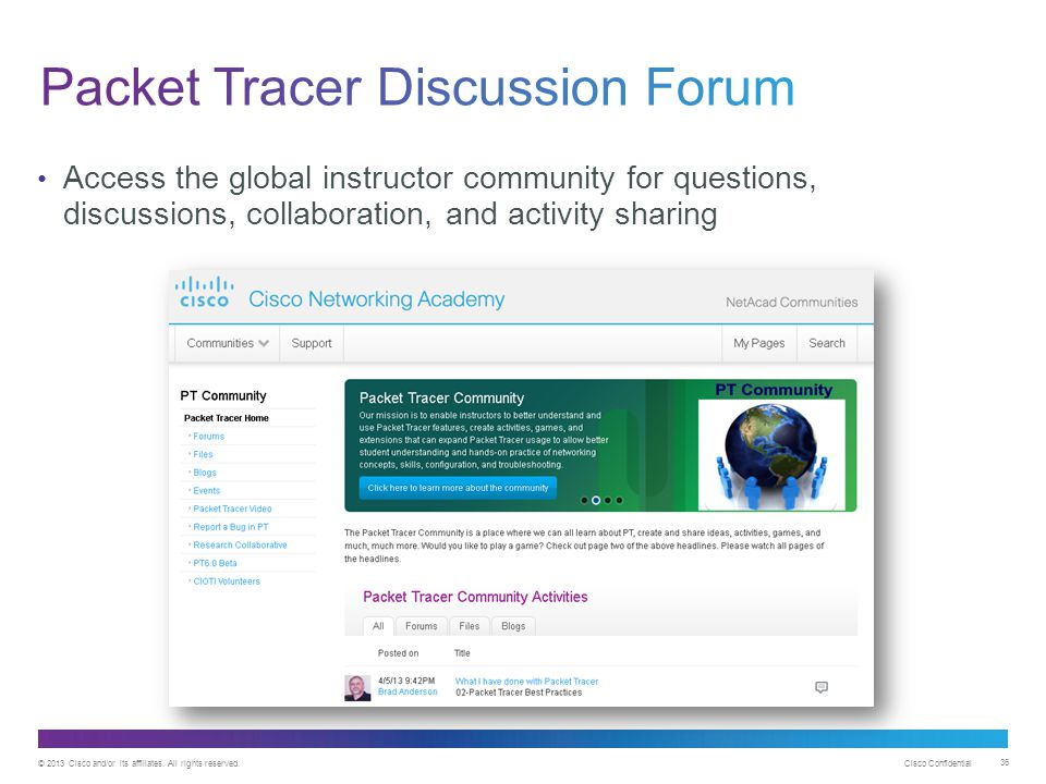 Packet Tracer Discussion Forum