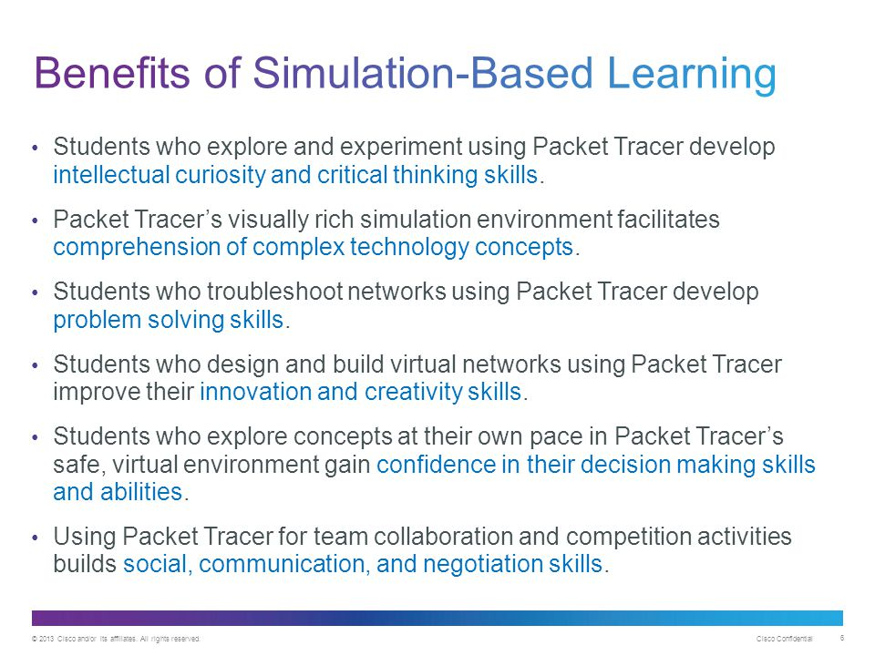Benefits of Simulation-Based Learning