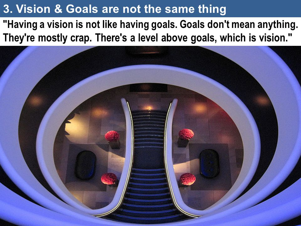 3. Vision & Goals are not the same thing
