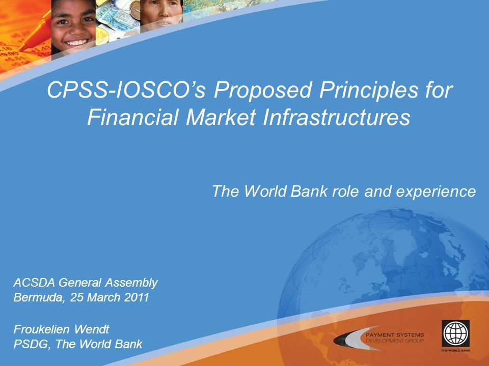 CPSS-IOSCO's Proposed Principles for Financial Market Infrastructures