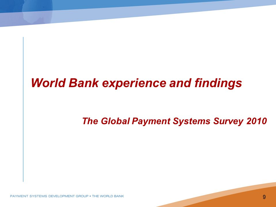 World Bank experience and findings