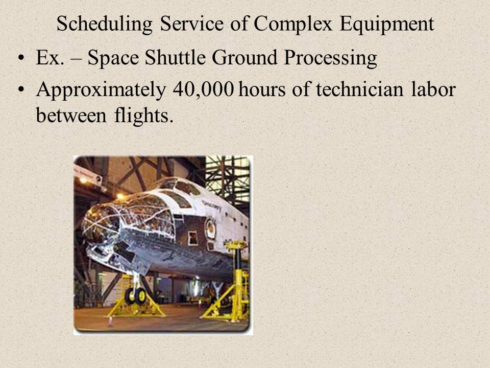 Scheduling Service of Complex Equipment
